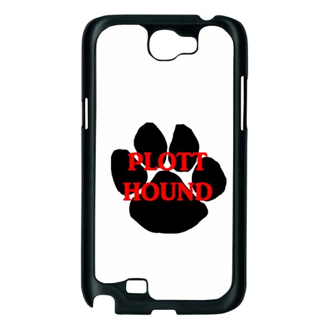 Plott Hound Name Paw Samsung Galaxy Note 2 Case (Black)