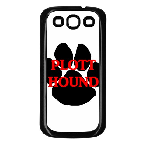 Plott Hound Name Paw Samsung Galaxy S3 Back Case (Black)