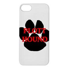 Plott Hound Name Paw Apple iPhone 5S/ SE Hardshell Case