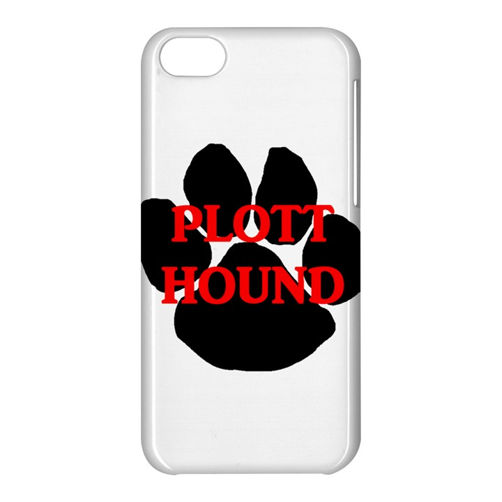 Plott Hound Name Paw Apple iPhone 5C Hardshell Case