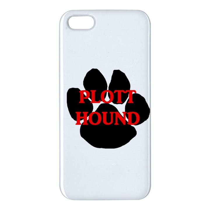 Plott Hound Name Paw iPhone 5S/ SE Premium Hardshell Case