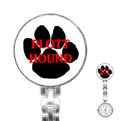 Plott Hound Name Paw Stainless Steel Nurses Watch