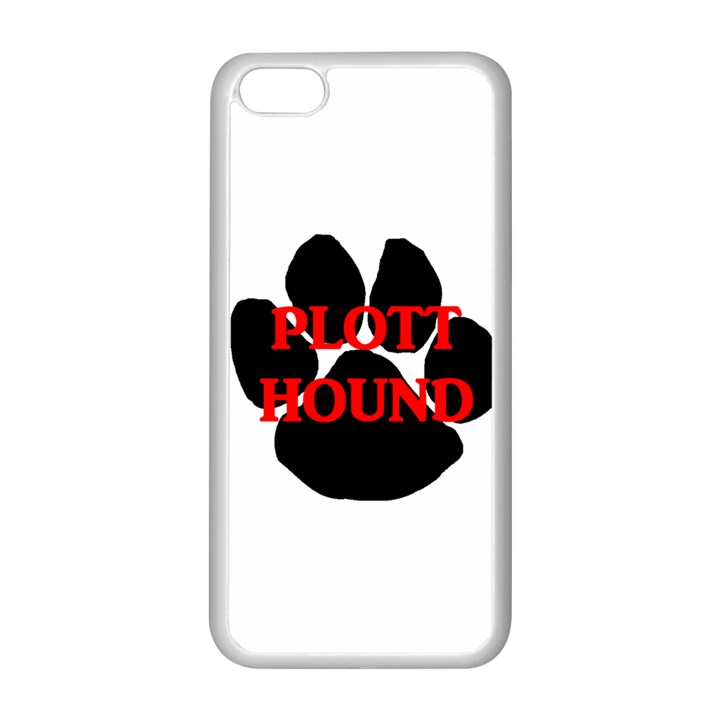 Plott Hound Name Paw Apple iPhone 5C Seamless Case (White)