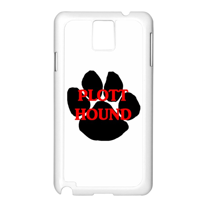 Plott Hound Name Paw Samsung Galaxy Note 3 N9005 Case (White)