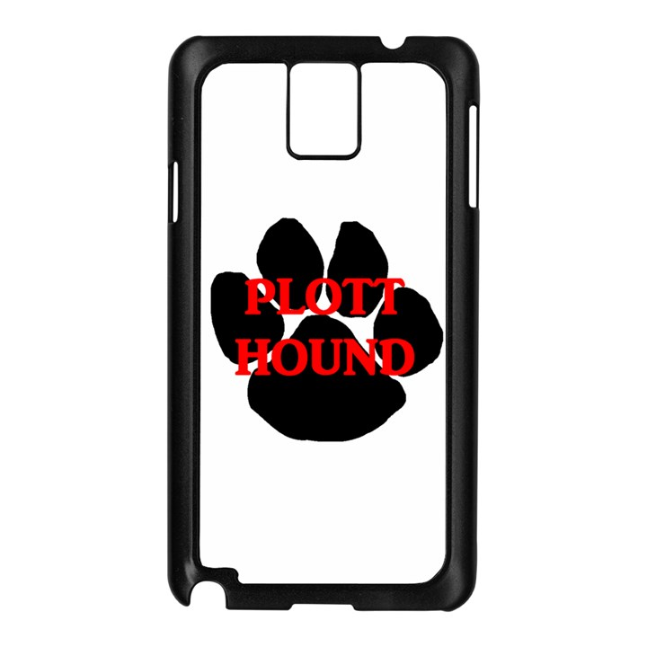 Plott Hound Name Paw Samsung Galaxy Note 3 N9005 Case (Black)