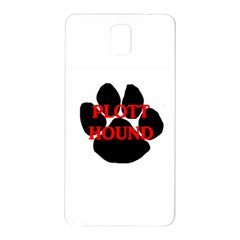 Plott Hound Name Paw Samsung Galaxy Note 3 N9005 Hardshell Back Case