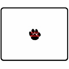 Plott Hound Name Paw Double Sided Fleece Blanket (Medium)