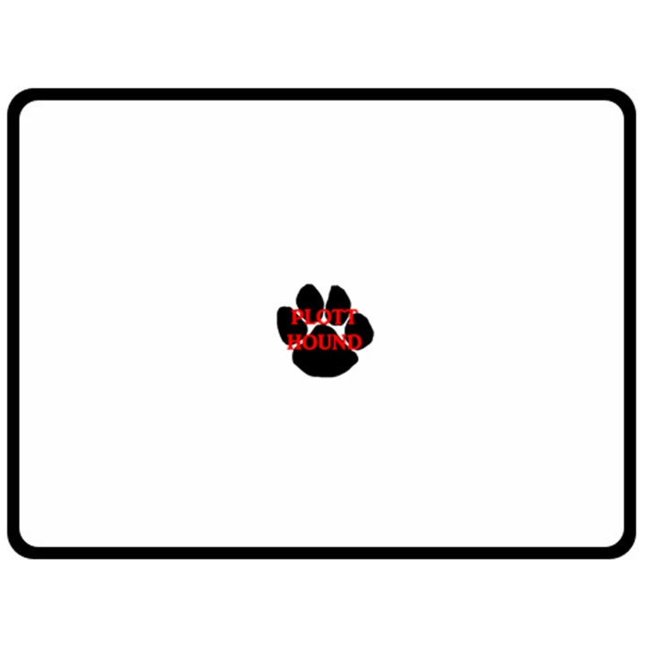 Plott Hound Name Paw Double Sided Fleece Blanket (Large)