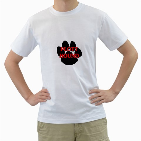 Plott Hound Name Paw Men s T-Shirt (White)