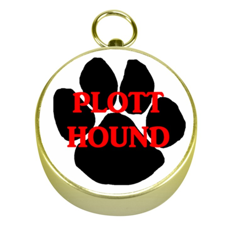 Plott Hound Name Paw Gold Compasses
