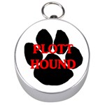 Plott Hound Name Paw Silver Compasses Front