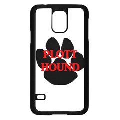 Plott Hound Name Paw Samsung Galaxy S5 Case (Black)