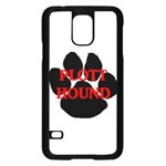 Plott Hound Name Paw Samsung Galaxy S5 Case (Black) Front