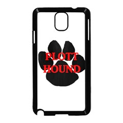 Plott Hound Name Paw Samsung Galaxy Note 3 Neo Hardshell Case (black)