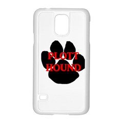 Plott Hound Name Paw Samsung Galaxy S5 Case (White)