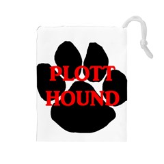 Plott Hound Name Paw Drawstring Pouches (Large)