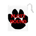Plott Hound Name Paw Drawstring Pouches (Large)  Front