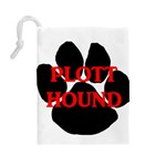 Plott Hound Name Paw Drawstring Pouches (Large)  Back