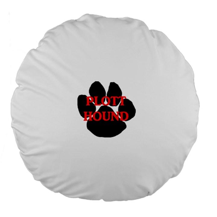 Plott Hound Name Paw Large 18  Premium Flano Round Cushions