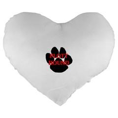 Plott Hound Name Paw Large 19  Premium Flano Heart Shape Cushions