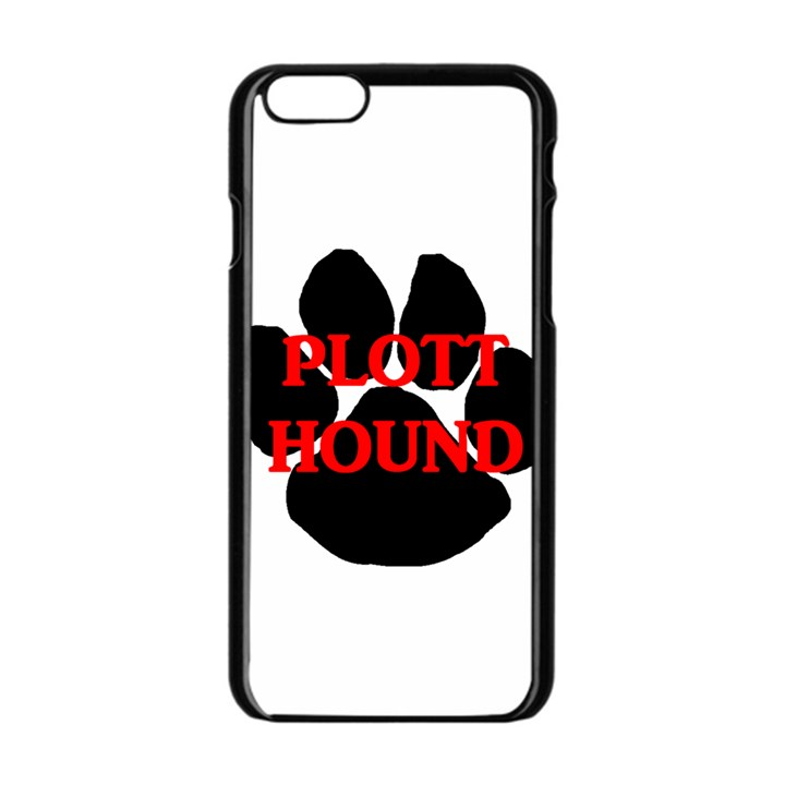 Plott Hound Name Paw Apple iPhone 6/6S Black Enamel Case