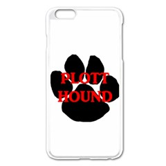 Plott Hound Name Paw Apple iPhone 6 Plus/6S Plus Enamel White Case