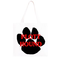 Plott Hound Name Paw Grocery Light Tote Bag