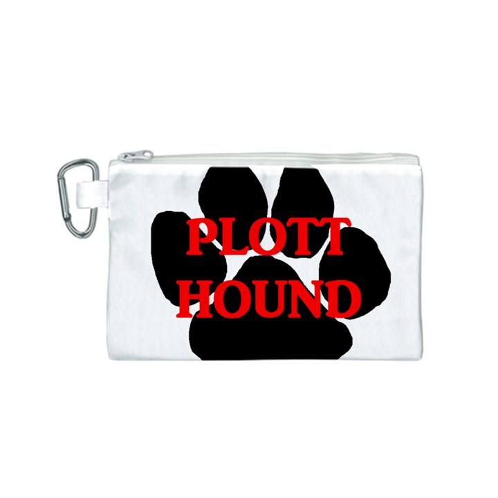 Plott Hound Name Paw Canvas Cosmetic Bag (S)
