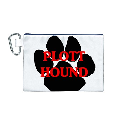 Plott Hound Name Paw Canvas Cosmetic Bag (M)