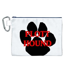 Plott Hound Name Paw Canvas Cosmetic Bag (L)
