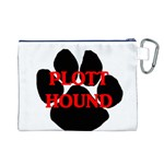 Plott Hound Name Paw Canvas Cosmetic Bag (L) Back