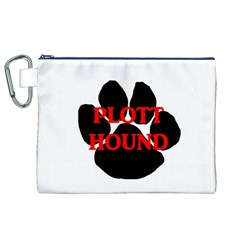 Plott Hound Name Paw Canvas Cosmetic Bag (XL)