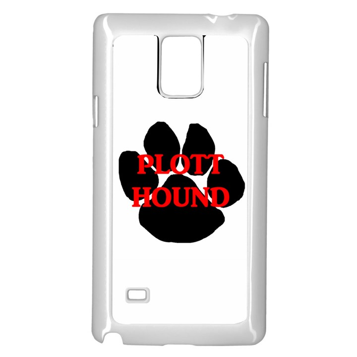 Plott Hound Name Paw Samsung Galaxy Note 4 Case (White)