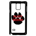 Plott Hound Name Paw Samsung Galaxy Note 4 Case (Black) Front