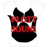 Plott Hound Name Paw Women s V-Neck Cap Sleeve Top Front