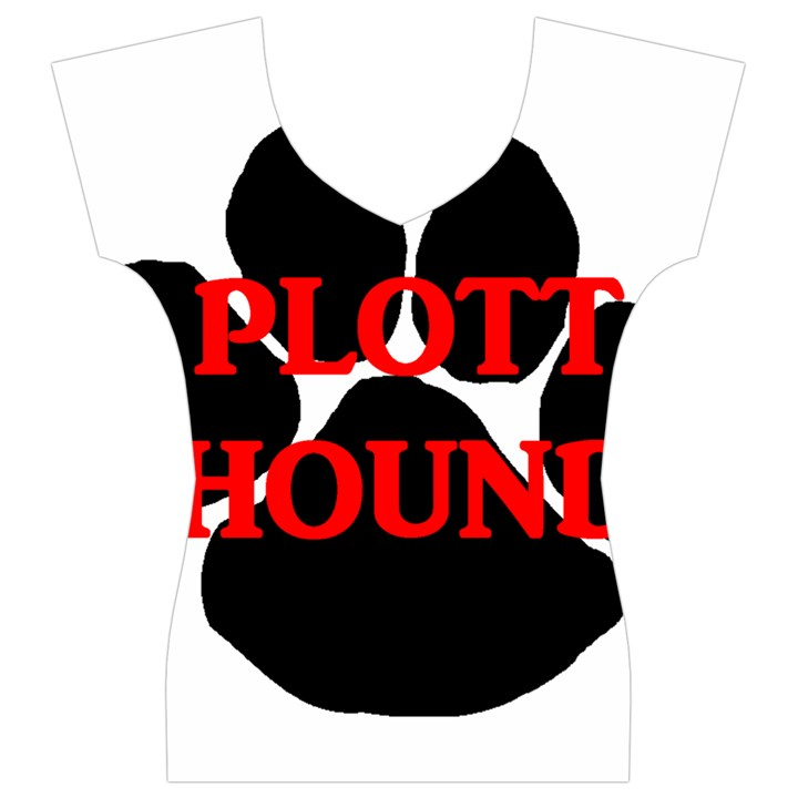 Plott Hound Name Paw Women s V-Neck Cap Sleeve Top
