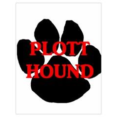 Plott Hound Name Paw Drawstring Bag (Large)
