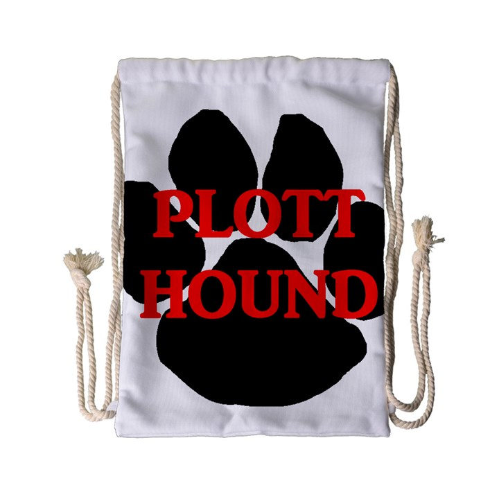 Plott Hound Name Paw Drawstring Bag (Small)