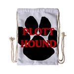 Plott Hound Name Paw Drawstring Bag (Small) Back