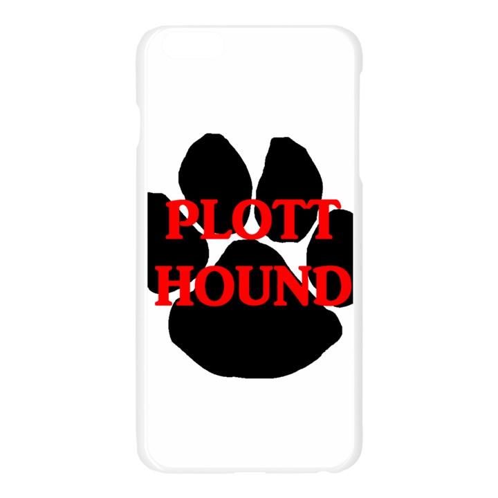 Plott Hound Name Paw Apple Seamless iPhone 6 Plus/6S Plus Case (Transparent)