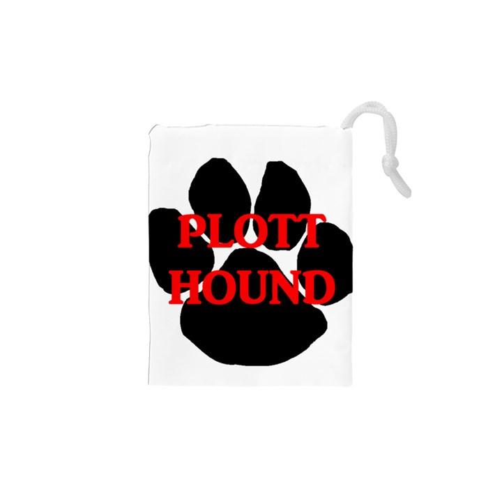 Plott Hound Name Paw Drawstring Pouches (XS)