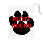Plott Hound Name Paw Drawstring Pouches (Extra Large) Front