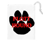 Plott Hound Name Paw Drawstring Pouches (XXL) Front