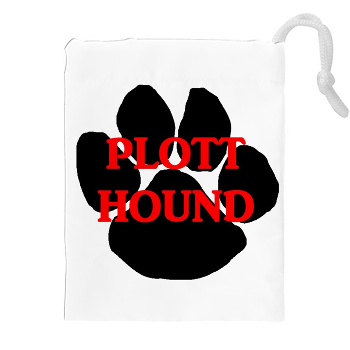 Plott Hound Name Paw Drawstring Pouches (XXL)