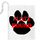Plott Hound Name Paw Drawstring Pouches (XXL) Back