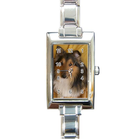 Shetland Sheepdog Rectangle Italian Charm Watch