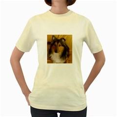Shetland Sheepdog Women s Yellow T Shirt