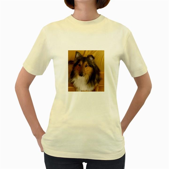 Shetland Sheepdog Women s Yellow T-Shirt