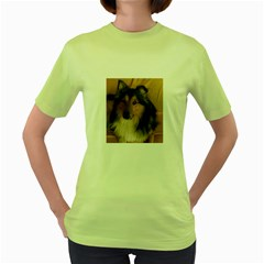 Shetland Sheepdog Women s Green T-Shirt
