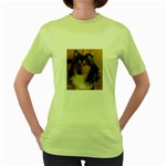 Shetland Sheepdog Women s Green T-Shirt Front